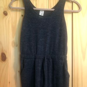 Girls Navy Romper